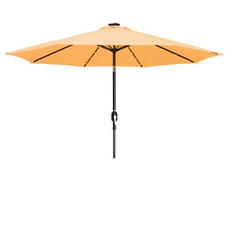 Trademark Innovations Apricot 9-foot Delux Solar-powered LED-lit Patio Umbrella
