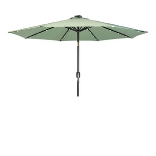 Trademark Innovations Basil 9' Deluxe Solar-powered LED-lit Patio Umbrella