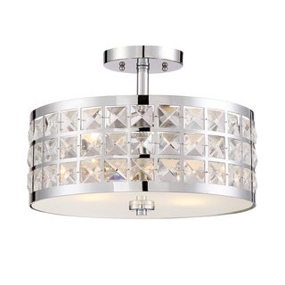 Lite Source 2-Light Damond Semi-Flush Mount
