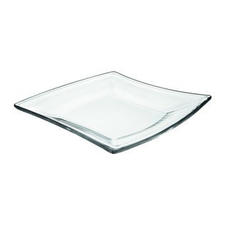 majestic gifts glass 2piece 7inch plate set