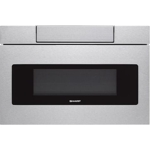 "Sharp Insight/SMD3070AS Stainless Steel 30"" Flat Panel Microwave Drawer, 1.2 cu.ft. 1000W, Sensor, LCD Display - Stainless Steel"