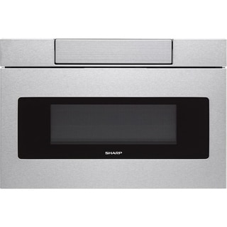"""Sharp Insight/SMD3070AS Stainless Steel 30"""" Flat Panel Microwave Drawer, 1.2 cu.ft. 1000W, Sensor, LCD Display"""