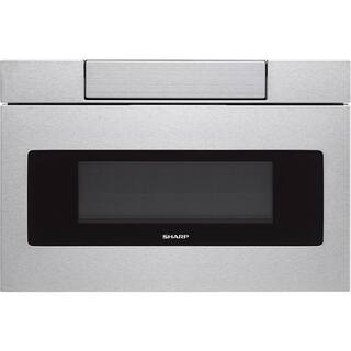 """Sharp Insight/SMD3070AS Stainless Steel 30"""" Flat Panel Microwave Drawer, 1.2 cu.ft. 1000W, Sensor, LCD Display https://ak1.ostkcdn.com/images/products/13817806/P20465151.jpg?impolicy=medium"""