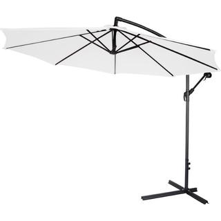 Trademark Innovations White Polyester/Steel 10-foot Patio Umbrella