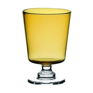 Majestic Gifts Amber Glass 12.5-ounce Water Goblets (Set of 2)
