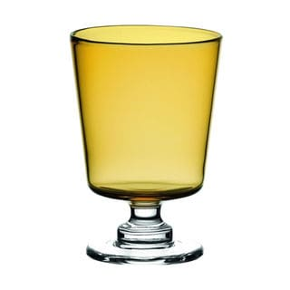 Majestic Gifts Amber Glass 9.5-ounce Wine Goblets (Set of 2)
