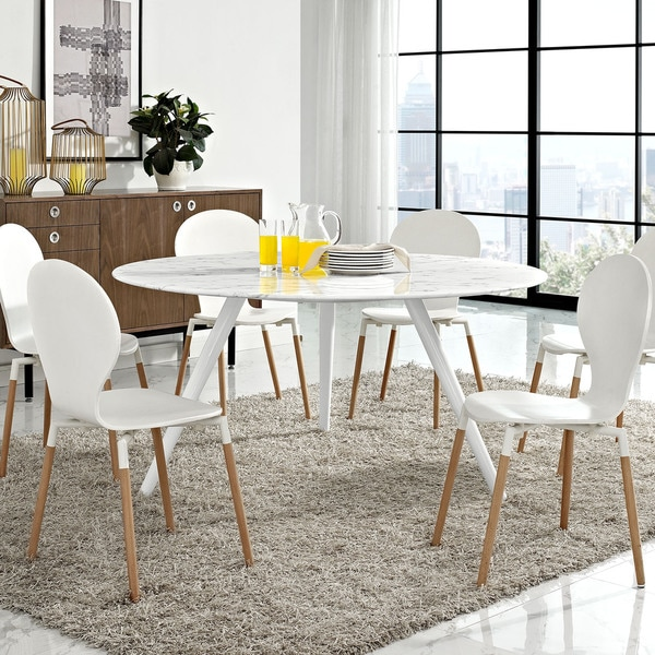 """Shop Lippa 60"""" Artificial Marble Dining Table - Free ..."""