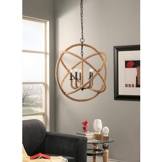 Abbyson Tuscan 5-light Rope-enclosed Chandelier