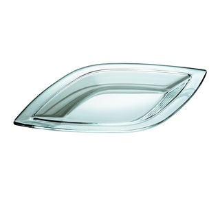 Majestic Gifts Quality Clear Glass 17.8-inch x 10.2-inch Large leaf-shape Tray