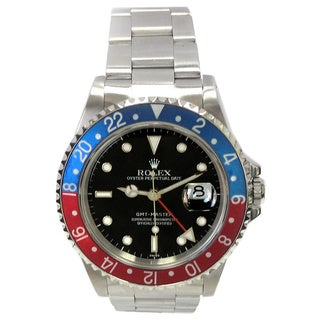 Pre-owned 40mm Rolex GMT-Master Stainless Steel Watch