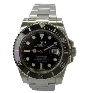 Pre-owned 40mm Stainless Steel Rolex Submariner Ceramic Bezel Watch