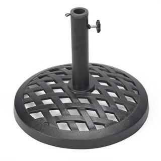 Trademark Innovations Black Finish Cast Iron 17.7-inch Umbrella Base