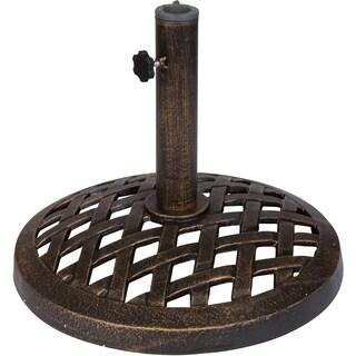 Trademark Innovations Bronze Finish Cast Iron 17.7-inch Umbrella Base