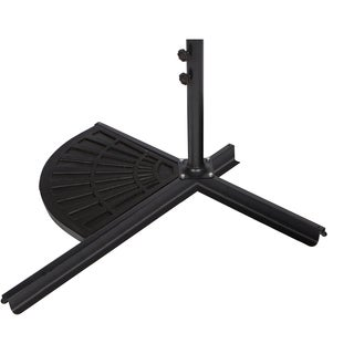 Trademark Innovations Black Resin 26-pound Umbrella Base Weight
