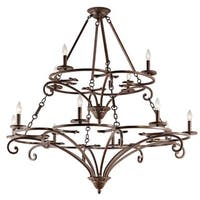 Kichler Lighting Caldella Collection 12-light Aged Bronze Chandelier