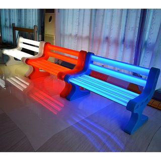 Contempo Lights LED Garden Bench