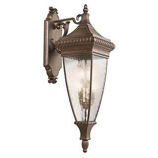 Kichler Lighting Venetian Rain Collection 4-light Brushed Bronze Outdoor Wall Lantern