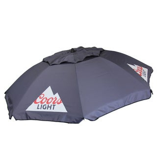 DestinationGear Coors Light Graphite Grey 7-feet Beach Umbrella