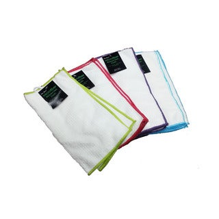 Home Basics Multicolored Microfiber Dish Cloth Cleaning Towel (Case of 16)