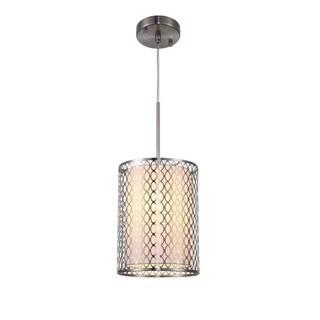 Woodbridge Lighting Spencer Nickel-finish Stainless Steel 1-light Mini Pendant Light