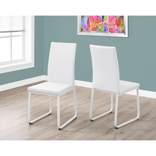 White Faux Leather 38-inch Dining Chairs (Set of 2)