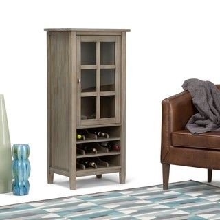 WYNDENHALL Norfolk 12-Bottle Solid Wood 23 inch Wide Rustic High Storage Wine Rack