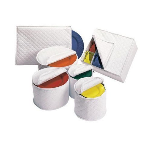 White Dinnerware Storage Set
