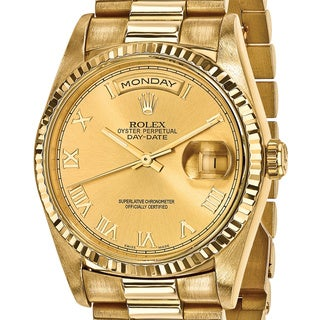 pre owned rolex men s watches shop the best deals for 2017 certified pre owned rolex 18 karat yellow gold mens day date presidential watch
