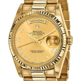 Certified Pre-Owned Rolex Men's 18 Karat Yellow Gold Day-Date Presidential Watch|https://ak1.ostkcdn.com/images/products/13818627/P20465986.jpg?impolicy=medium