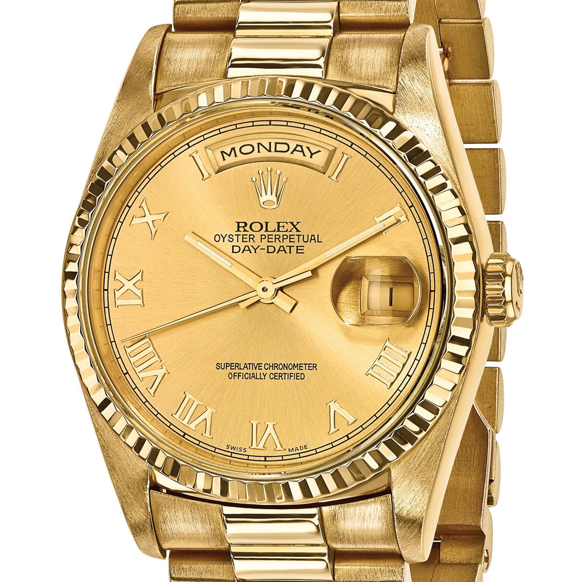 Quality Pre Owned Rolex Men S 18k Yellow Gold Presidential Watch Overstock 13818627