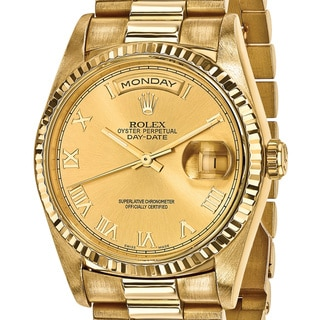 Quality Pre-owned Rolex Men's 18k Yellow Gold Presidential Watch