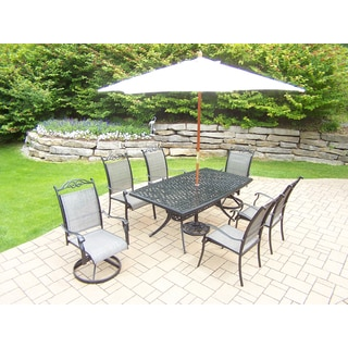 Radiance Sling 9-piece Outdoor Dining Set