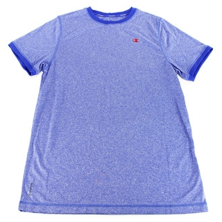 Champion Boys' Solid Blue Polyester T-shirt