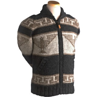 Laundromat Men's Phoenix Black Wool Hand-knit Sweater
