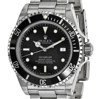 Certified Pre-owned Rolex Stainless Steel Mens Sea Dweller Black Watch