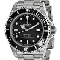 Quality Pre-Owned Rolex Men's Stainless Steel Sea Dweller Black Watch - Stainless  Steel