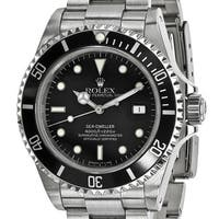 Certified Pre-Owned Rolex Men's Stainless Steel Sea Dweller Black Watch - Stainless  Steel