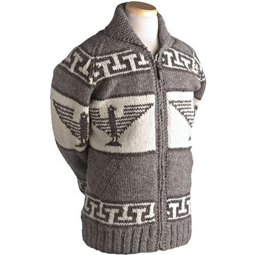 Laundromat Men's Phoenix Brown Wool Sweater (Brown-XXL)