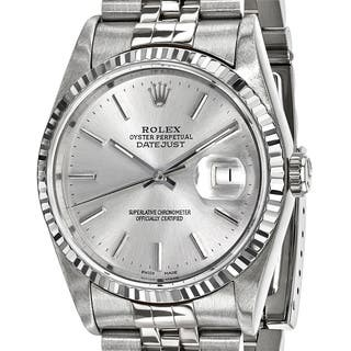Certified Pre-Owned Rolex Men's Steel and 18 Karat White Gold Bezel, Silver Dial Watch|https://ak1.ostkcdn.com/images/products/13818741/P20465993.jpg?impolicy=medium