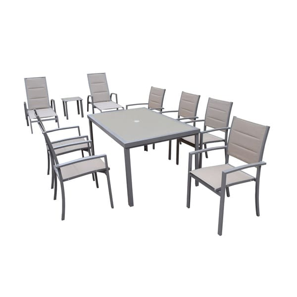 Havenside Home Engelhard 10 Piece Padded Patio Set