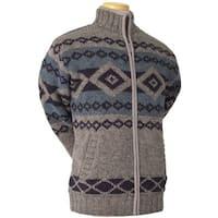 Laundromat Men's Logan Brown Jacquard Wool Sweater