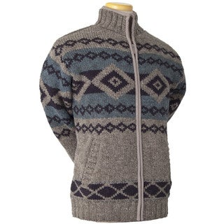 Laundromat Men's Logan Brown Jacquard Wool Sweater