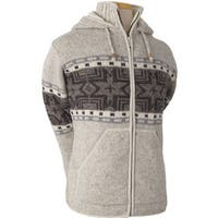 Laundromat Men's Norden Cream 100 Percent Wool Fleece-lined Hoodie