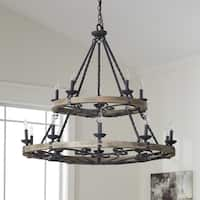 Kichler Lighting Taulbee Collection 15-light Weathered Zinc Chandelier