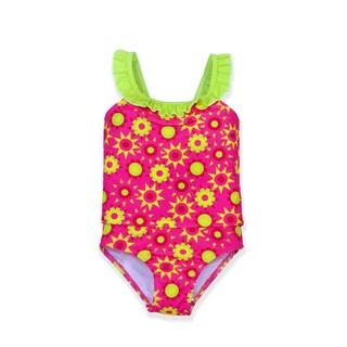 Jump'N Splash Girl's Red/Green Polyester/Spandex Tankini Set