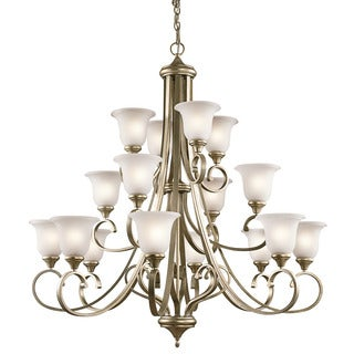 Kichler Lighting Monroe Collection 16-light Sterling Gold Chandelier