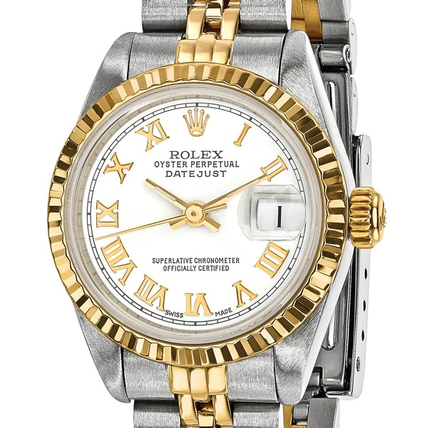 shop certified pre owned rolex steel and 18 karat yellow. Black Bedroom Furniture Sets. Home Design Ideas