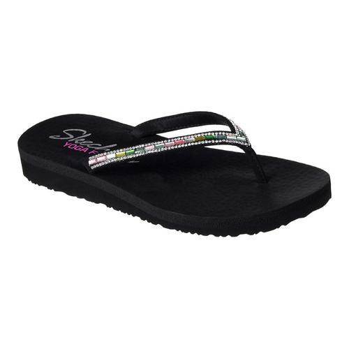 Women's Skechers Meditation Desert Princess Flip-Flop Black/Multi