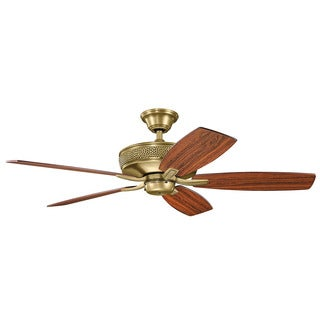 Kichler Lighting Monarch II Collection 52-inch Natural Brass Ceiling Fan