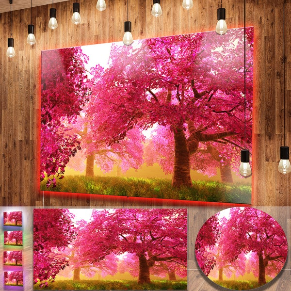 shop designart mysterious red cherry blossoms large landscape
